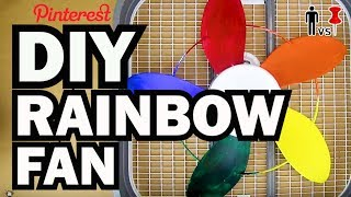 Diy Rainbow Fan - Man Vs Pin - Pinterest Test #63