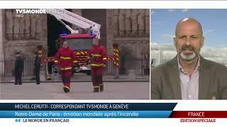Notre-Dame de Paris : émotion en Suisse après l'incendie