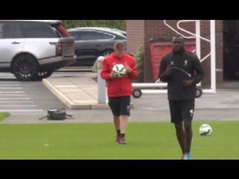 Mario Balotelli Works On His Fitness Alone At Liverpool's Training Ground