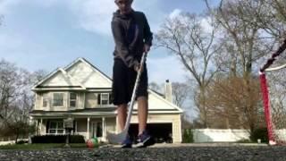 Stick handling and takin shots in hockey