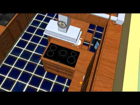 autocad projet cuisine en youtube. Black Bedroom Furniture Sets. Home Design Ideas