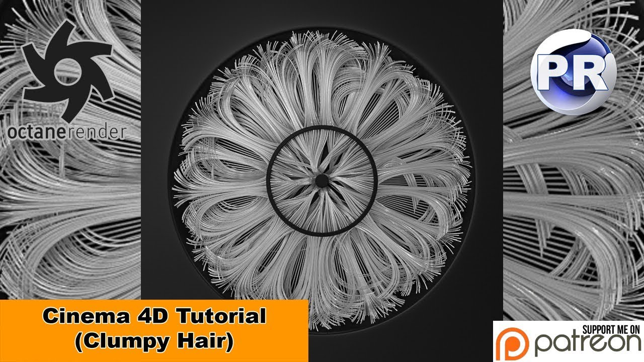 Clumpy Hair (Cinema 4D Tutorial)