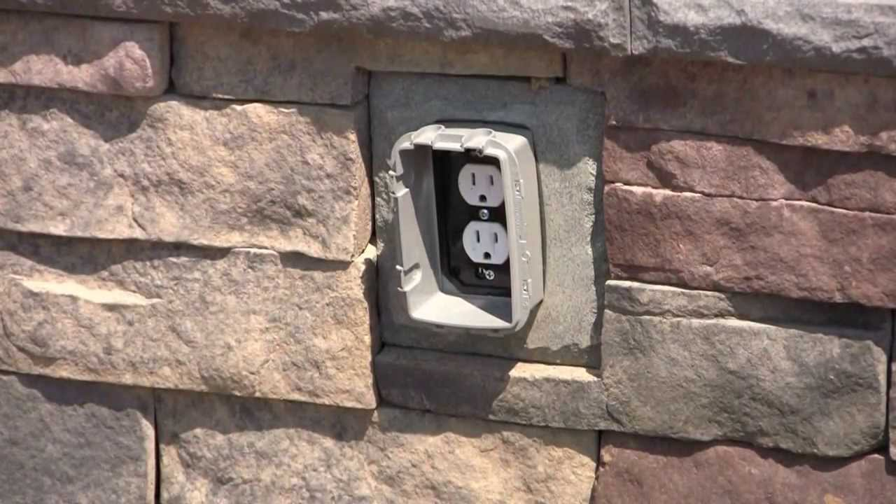 Tips & tricks installing an outlet stone accessory piece youtube on install electrical outlet brick wall Wiring a Switched Outlet in Series Switch to Multiple Outlets