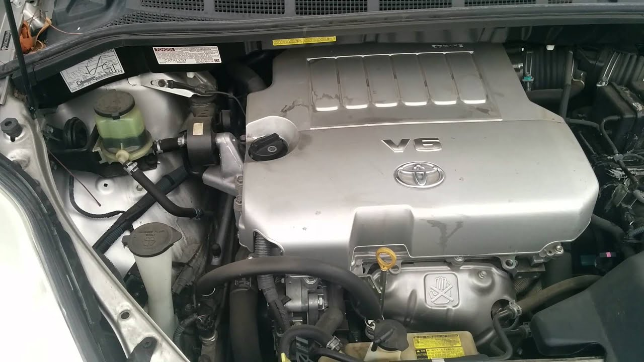 2008 Toyota Sienna Engine noise  Water Pump  YouTube