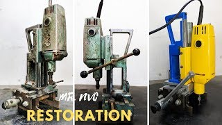 Drilling Machine with Sliding Mechanism Vise Restoration - Step By Step Restoration