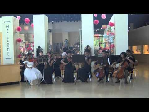 Youth musicians performing at Ballet Mississippi Nutcracker Tea Party 2015