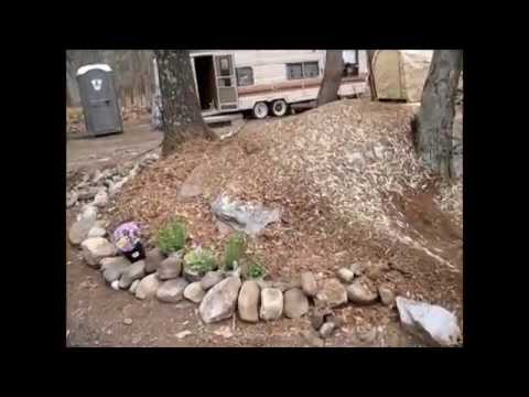 Making My Own Mulch And Rock Garden Flower Bed YouTube
