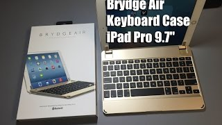 brydge air keyboard case for the ipad pro 9 7 gold
