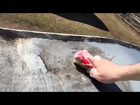 RV Motorhome Roof Cleaning