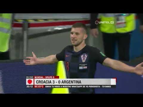 Mundial, Grupo D: Croacia 3-0 Argentina
