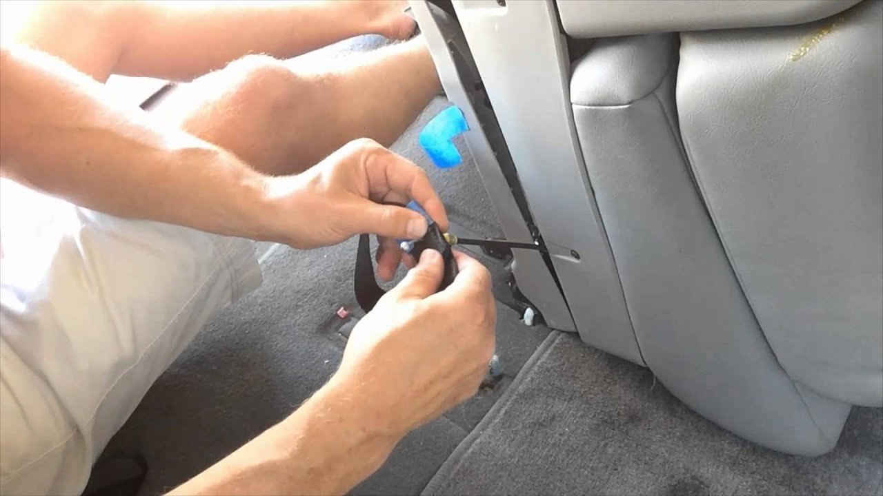 How To Fix Stuck 3rd Row Sequoia Seat Youtube