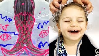 ✨Cutest Clients Get Kids Hair Makeovers! | Best Makeup Tutorials 2018 | Woah Beauty