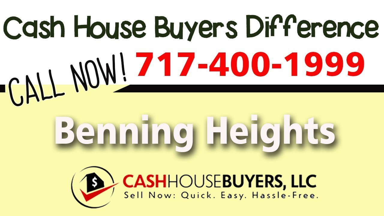 Cash House Buyers Difference in Benning Heights Washington DC | Call 7174001999 | We Buy Houses