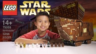 Repeat youtube video LEGO SANDCRAWLER - LEGO Star Wars UCS Set 75059 Time-lapse, Stop Motion, Unboxing & Review