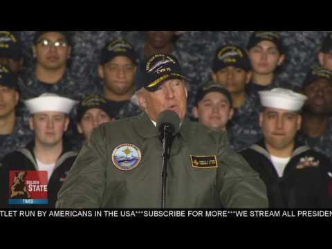 AMAZING: President Donald Trump Speech at The USS Gerald R. Ford