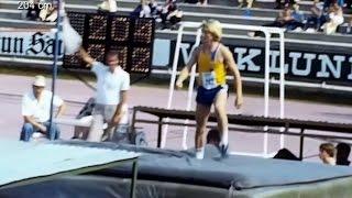 kaitafilmi 31. | SM N19 ja M18 | Turku 1981 | korkeus, seiväs ja aidat