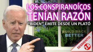 """🔴 INCREÍBLE! 🔴 LOS CONSPIRANOICOS TENÍAN RAZÓN! - """"Biden"""" emite desde un plató"""