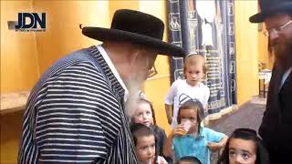 Students Of The Ribnitz Cheder In Tzfas Visit Toldos Aharon Rebbe - Elul 5780