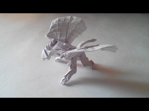 Оригами грифон. Орел и лев вместе (Origami Gryphon)