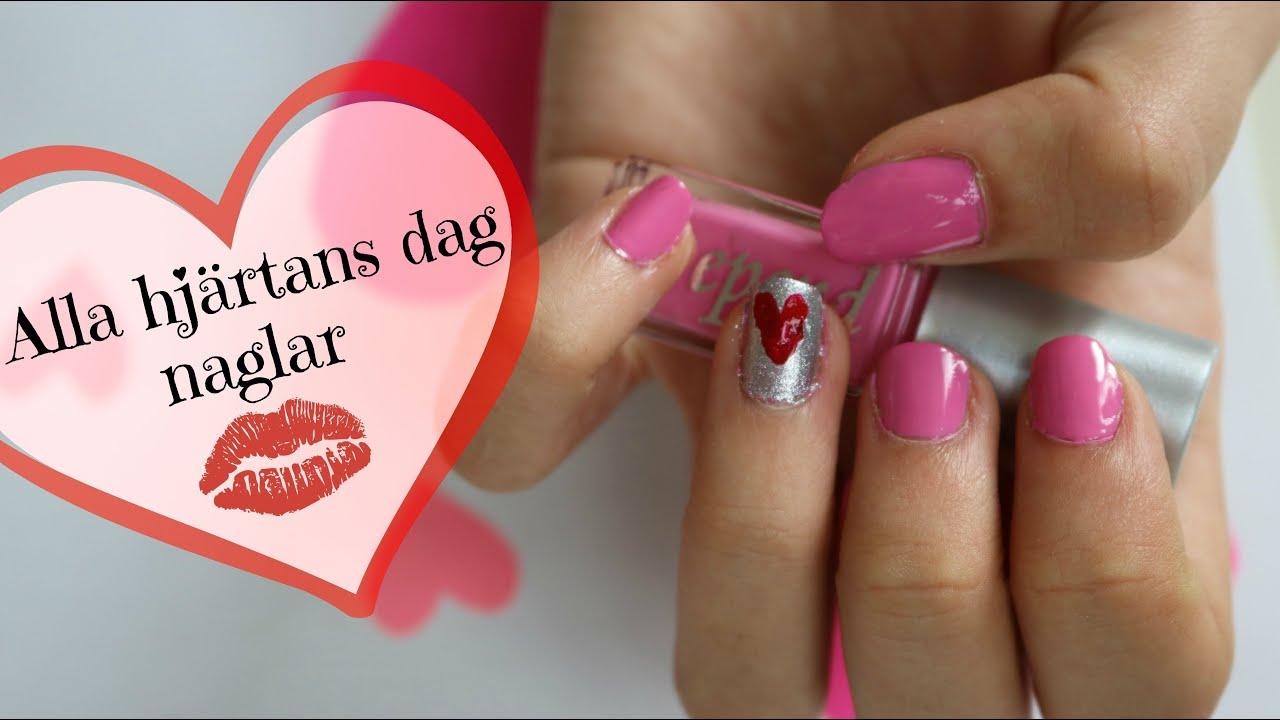 alla hjärtans dag naglar