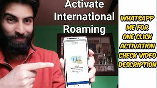 How to activate international roaming on Jio | Jio main kaise international Roaming activate karein