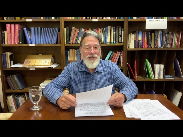 Bible Study with Bill Stahl - Week 25 Lev/Num/Deut Part 1