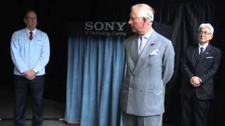 The Prince of Wales visits SONY
