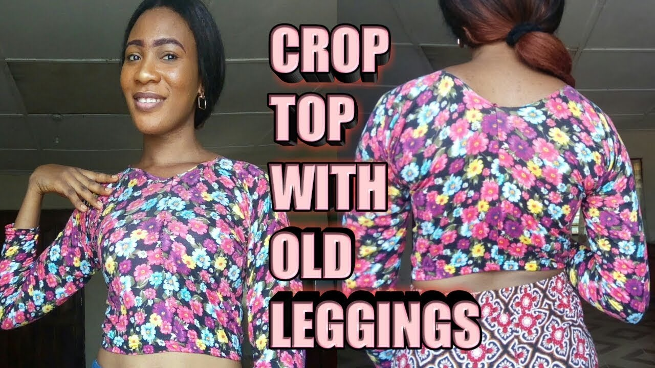 09ce39d57cd02 DIY  How to turn your old Leggings Tights into cute crop top. (PRINCESS  EMELDA)