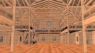 Swan Timber Frames And The Swan Barn Door Present:  Wi Dells Barn 12' Bays   Video