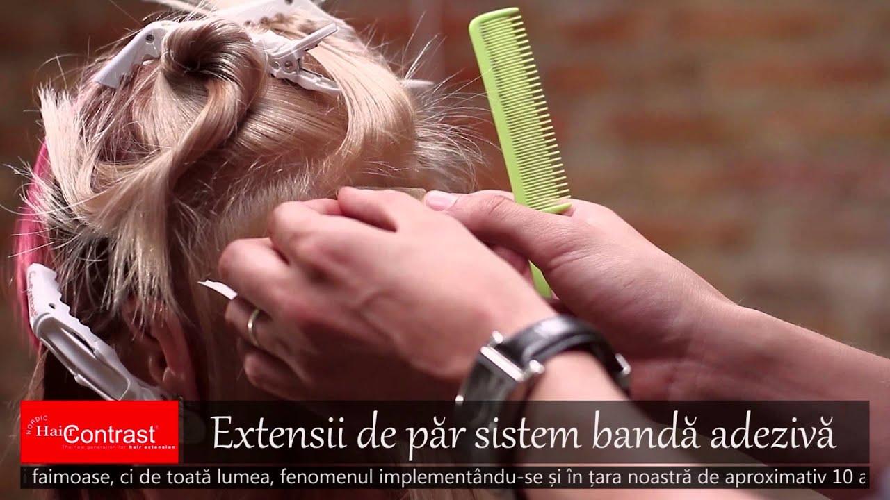 Extensii De Păr Cu Bandă Adezivă Nordic Hair Contrast Youtube