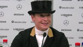 STUTTGART GERMAN MASTERS - Pressekonferenz GERMAN DRESSAGE MASTER - Isabell Werth