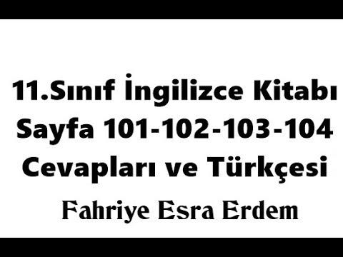 11. Sınıf İngilizce Ders Kitabı Sayfa 101-102-103-104 Cevapları ve Türkçesi MEB 2019