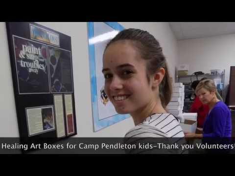 500 Healing Art Boxes for Camp Pendieton Kids