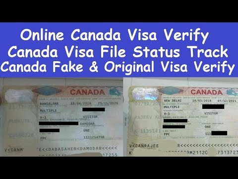 Online And Offline Canada Visa Verify L Canada Visa Application Tracking L Online Canada Visa File