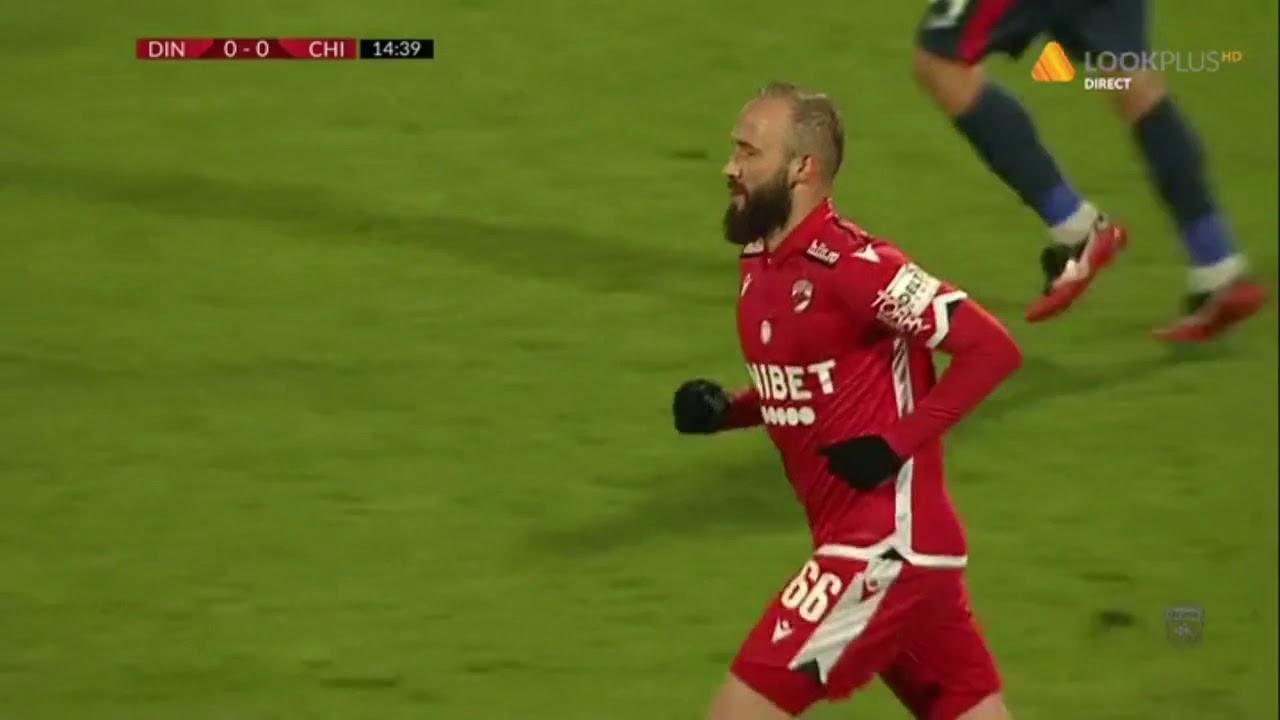 Gol anulat in Dinamo Bucuresti - Chindia Targoviste