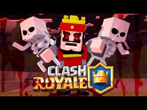 Minecraft: CLASH ROYALE AMALDIÇOADO! (Assustando Amigos)