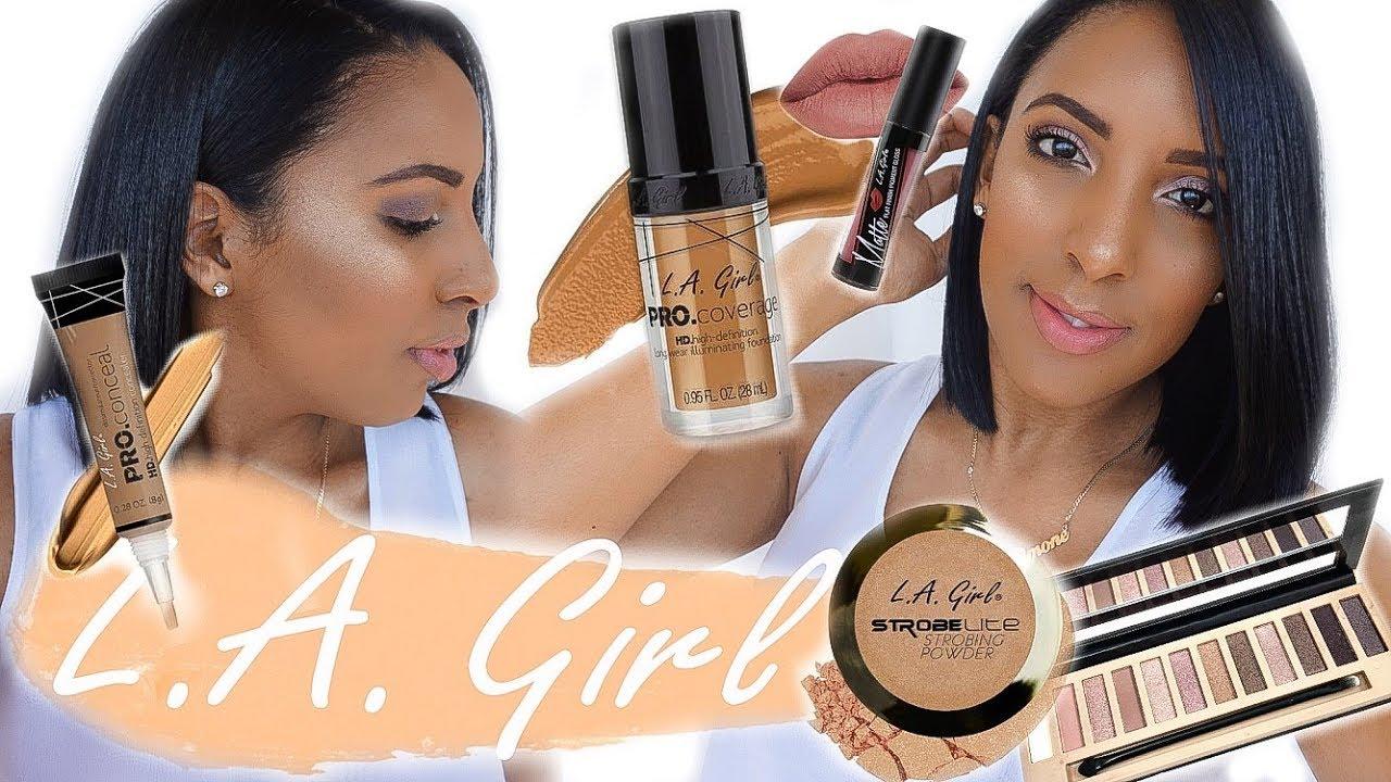 La girl makeup