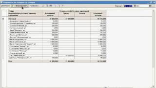 """Видеоуроки """"1С: Управление торговлей 10.3"""" урок 3. Отчёт Ведомость по товарам на складе"""