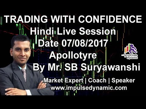 Hindi Live Trading Session Apollotyre  Profit in 15min Impulse Dynamic Trading Academy