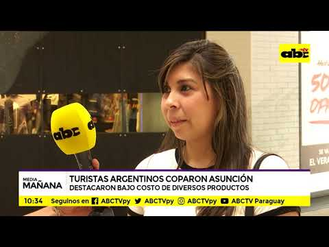 Turistas argentinos copan Asunción