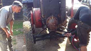 Odpalanie ursusa c-45. Starting the old tractor