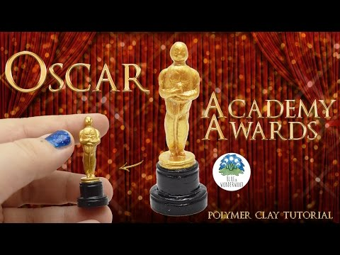 The Oscars Academy Awards Prize - Polymer Clay and Painting Tutorial - Blue in Wonderwood