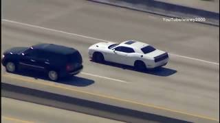 Dodge Challenger Hellcat Outruns Cops and Helicopter in High-speed Chase