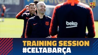 First training session ahead of Celta - Barça