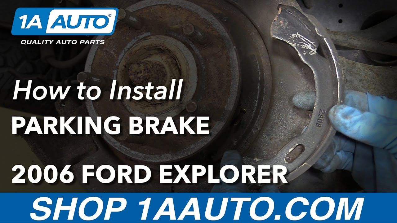 How To Replace Parking Brake And Hardware 02 10 Ford Explorer Youtube Ranger Xlt 40 Rear Drum Brakes Need Diagram For Reassembly