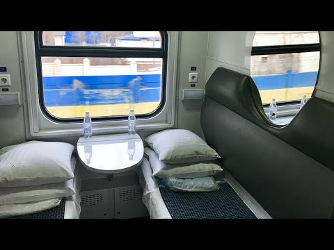 Inside First Class Sleeping Car Train Kiev - Mariupol поезд № 084 Киев - Мариуполь