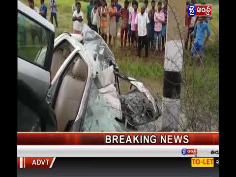 road accidents between srikalahasti and yerpedu   4 members died