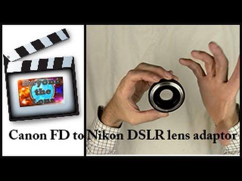 Canon FD to Nikon DSLR lens adapter