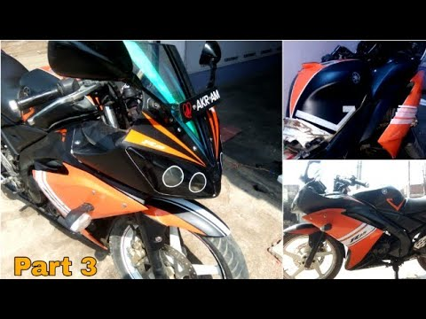 10 76 MB] Yamaha R15 Vinyl wrapping | R15 Modification Part 3 | The