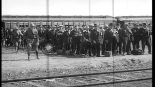 World War I draftees under Selective Service System at a receiving station in New...HD Stock Footage